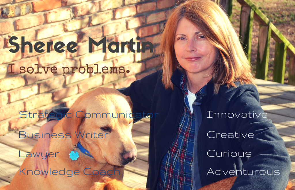 Sheree Martin I solve problems. Innovative, creative, curious, adventurous