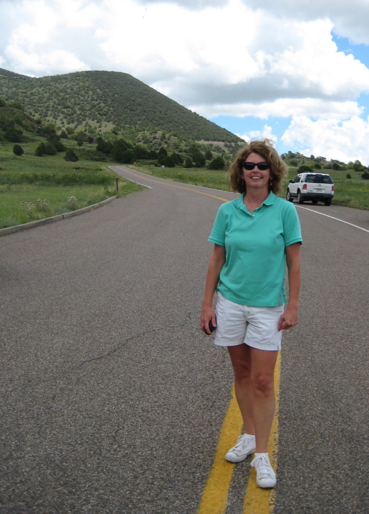 Sheree at Capulin Monument Entrance 2010