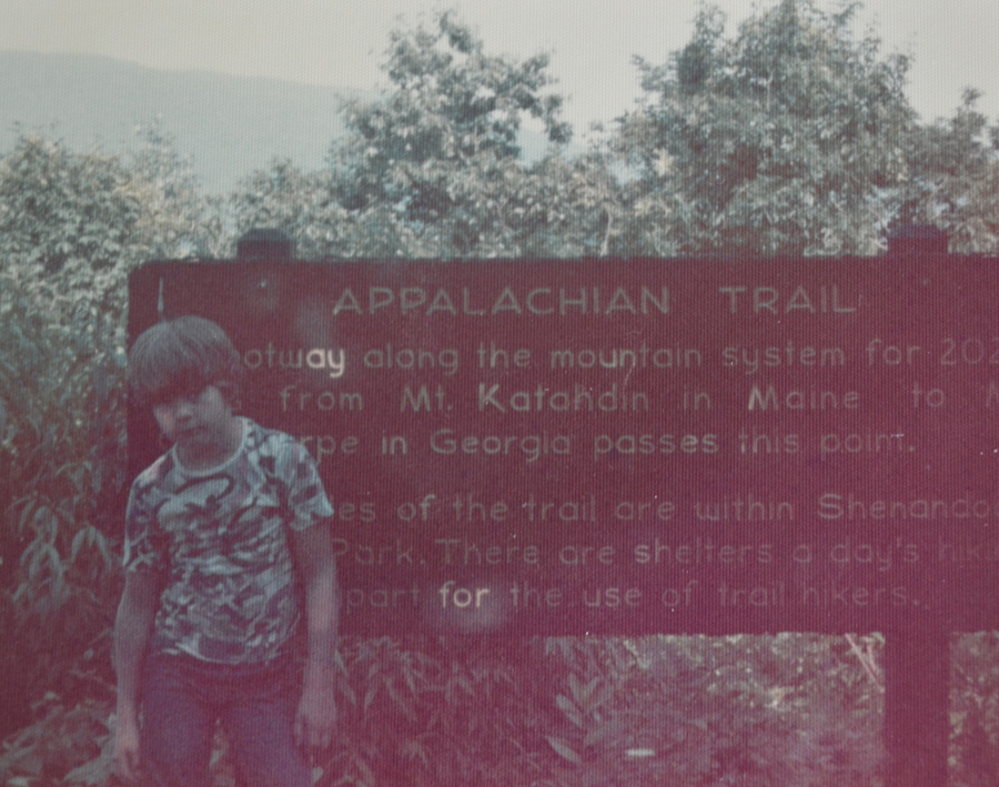 Appalachian Trail Sign from 1973 family vacation