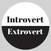 Introvert or extrovert graphic