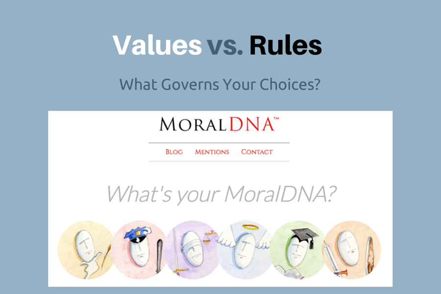 Graphic: Values vs Rules What is your MoralDNA (TM)