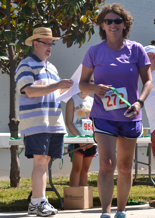 Sheree Martin age group award 3rd place Helen Keller Festival 5 mile run 2012