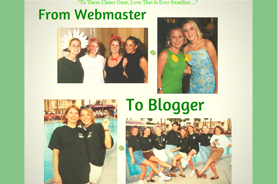 From Sorority Webmaster to Blogger