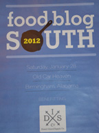 Food Blog South 2012 program cover